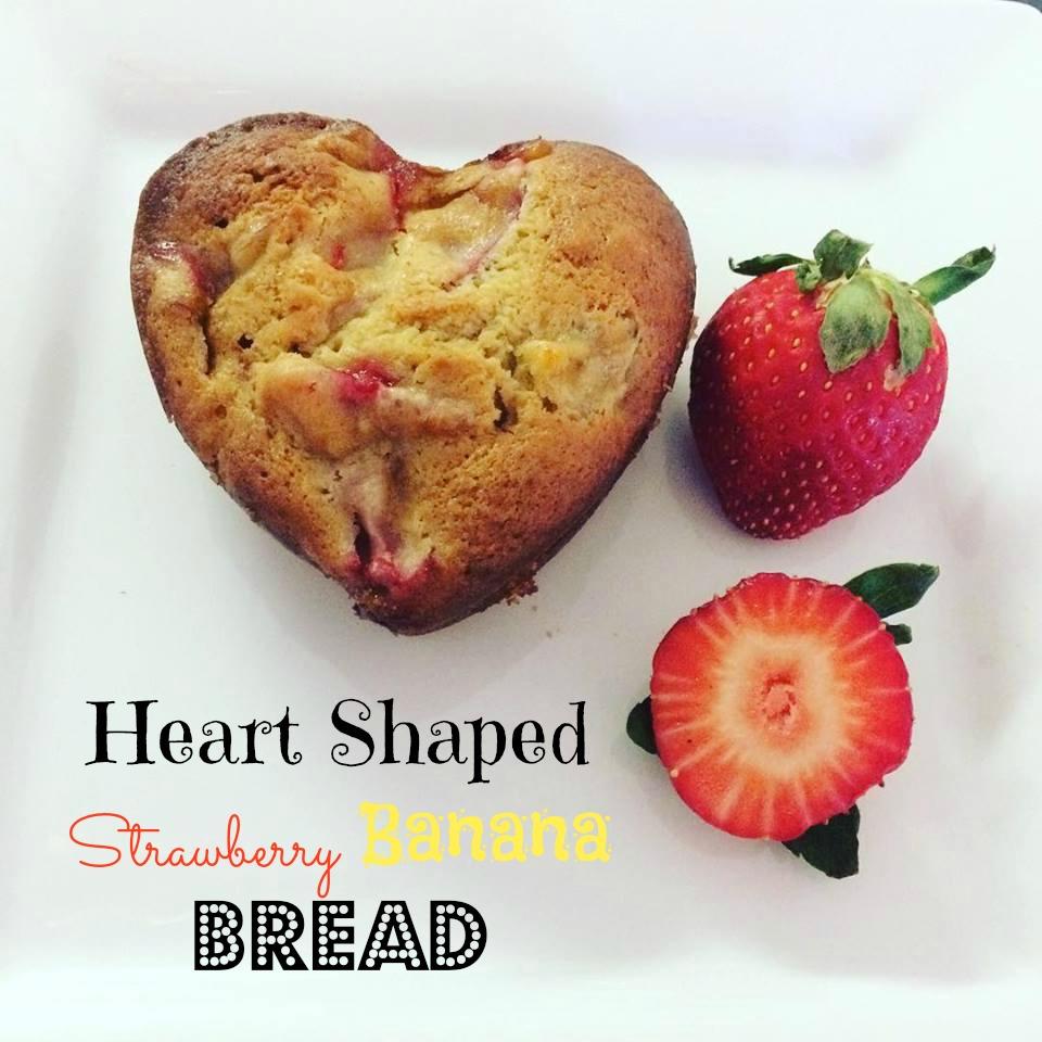 Heart Shaped Strawberry Banana Bread2